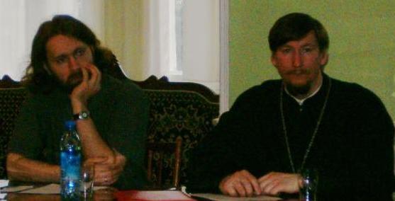 Г.М.Кессель и священник Димитрий Юревич